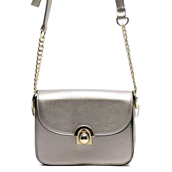 Fashion Box Crossbody Bag [W1432G-PEWTER]
