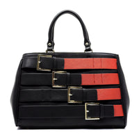 Belted Top handle Satchel [80955B-RED]