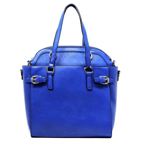 Belted Satchel & Round Top Handle Satchel 2pcs Set [TS1194-BLUE]