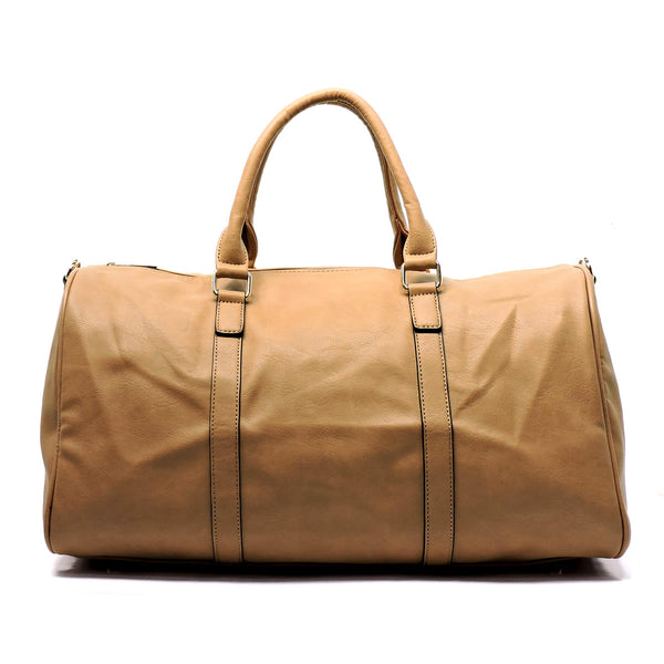 Fashion Duffle Overnight Gym Tote [AQ1222-TAN]