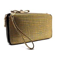 Fashion Bow Zip Around Wallet Wristlet [W5991AB-GOLD]
