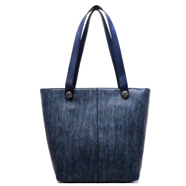 Fashion 2-in-1 Shopper & Clutch [81262-NAVY]