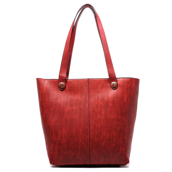 Fashion 2-in-1 Shopper & Clutch [81262-BURGUNDY]