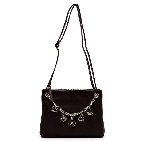 Chain Charms Clutch & Crossbody Bag [N0078-COFFEE]