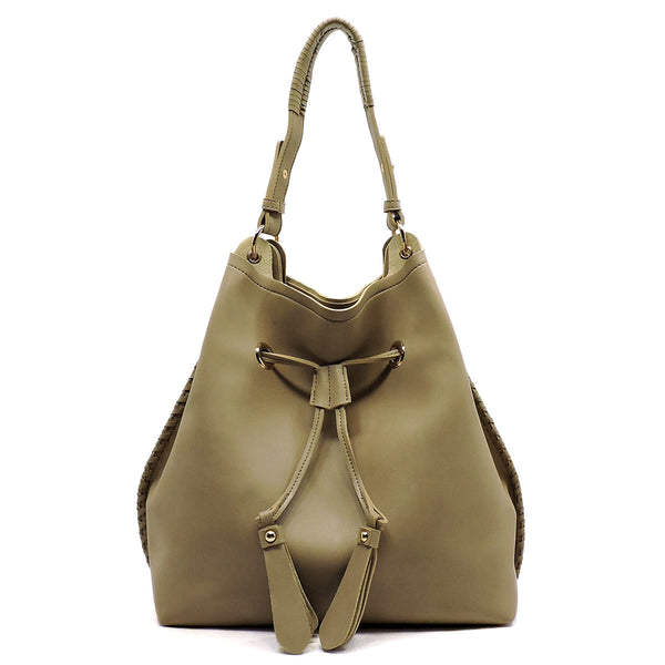 Drawstring Shoulder Bag [FL1256-TAUPE]