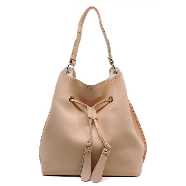 Drawstring Shoulder Bag [FL1256-PINK]