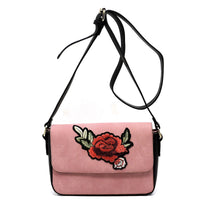 Embroidered Flower Crossbody Bag [PC1435 PINK]
