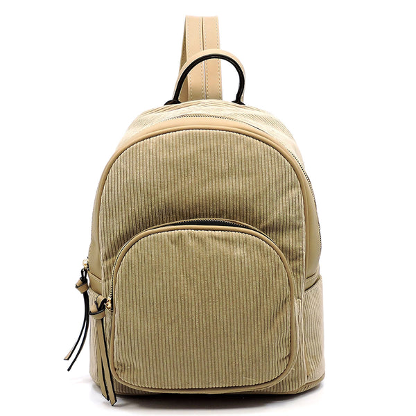 Corduroy Backpack [LJQ025 TAUPE]