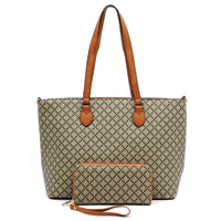 Check Printed 2-in-1 Shopper [GD2665 TAN]