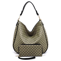 Check Printed 2-in-1 Shoulder Bag [GD2670 BLACK]