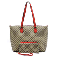 Check Printed 2-in-1 Shopper [GD2665 RED]