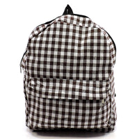 Checked Backpack [YB0062 RED/BLACK]