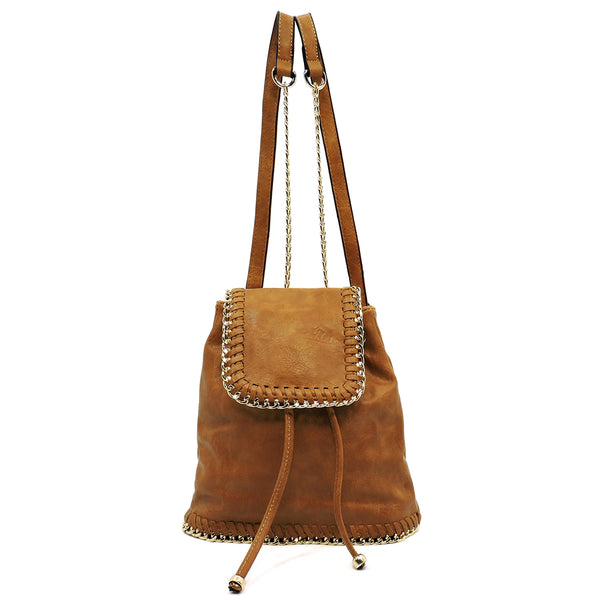 Fashion Chain Trim Backpack [JCBP106 CAMEL]