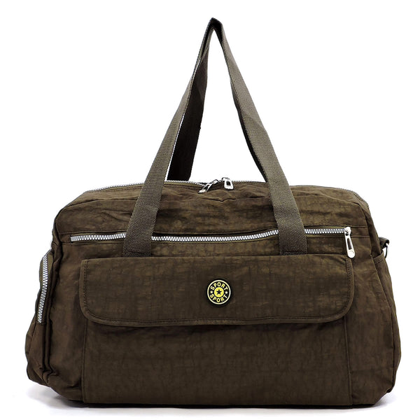 Fashion Duffle Overnight Gym Tote [YA815 BROWN]