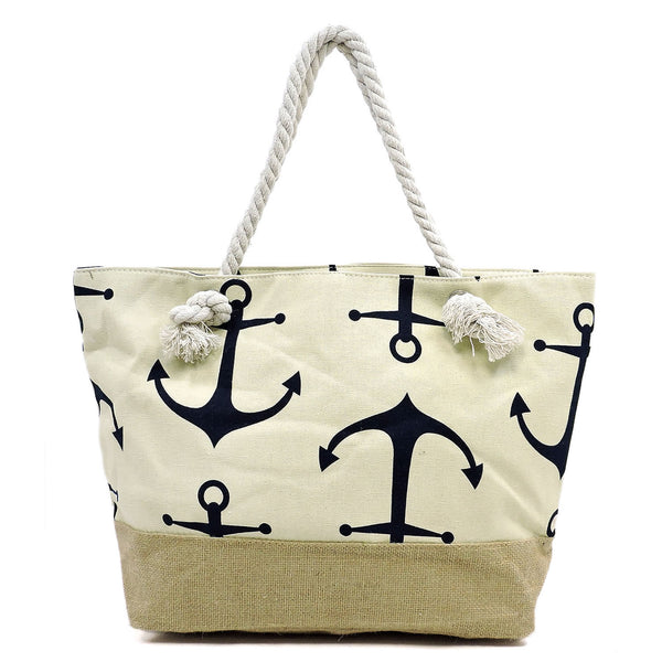 Anchor Print Canvas Tote [YAD11245 C#2]