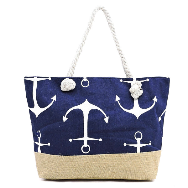 Anchor Print Canvas Tote [YAD11245 C#1]