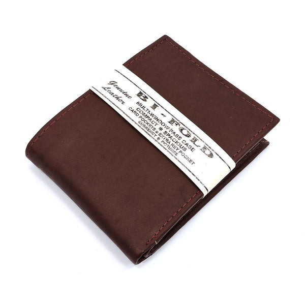 Cowhide Bi-fold Mens Wallet [MN3942W BROWN]
