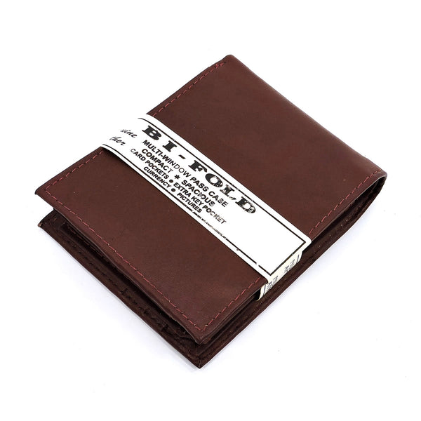 Cowhide Bi-fold Mens Wallet [MN97W BROWN]
