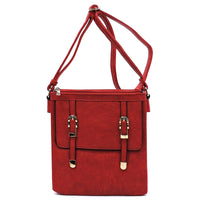 Buckle Flap Crossbody Bag [87438 RED]