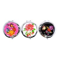 CM403VM COMPACT MIRROR 12PCS SET - FLOWER & BUTTERFLY