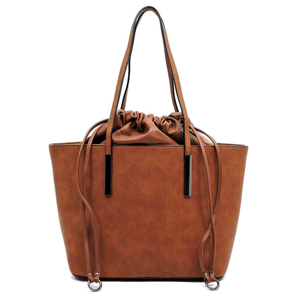 Fashion Drawstring Shopper [EW1411 BROWN]
