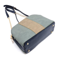Colorblock Dome Crossbody Bag [AC2673 BLUE]