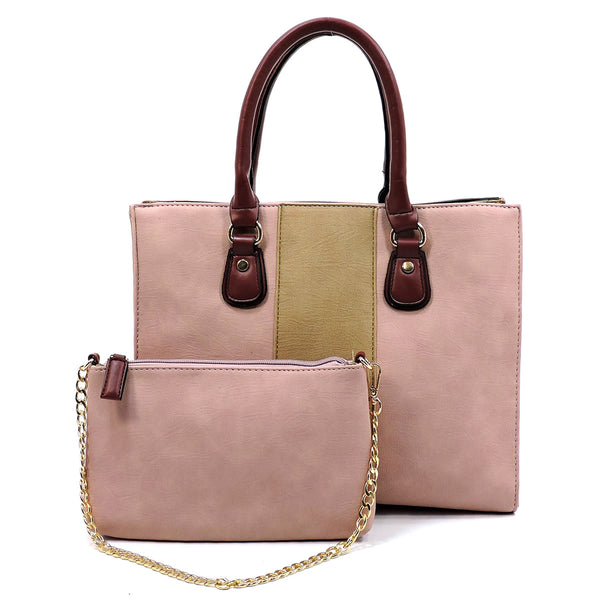 Colorblock 2-in-1 Box Satchel [AC2659 PINK]