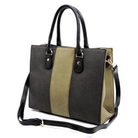Colorblock 2-in-1 Box Satchel [AC2659 TAN]