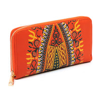 Dashiki Bohemian Fringe 2-in-1 Round Satchel D0442W ORANGE
