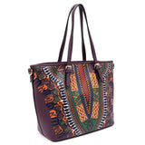 Dashiki Bohemian 2-in-1 Shopper D0428W PURPLE
