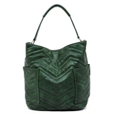 Chevron Quilted 2-in-1 Shoulder Bag CTF0005 BLACK