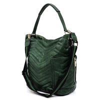 Chevron Quilted 2-in-1 Shoulder Bag CTF0005 STONE
