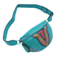Bohemian Dashiki Fanny Pack Waist Bag JY0228 TEAL