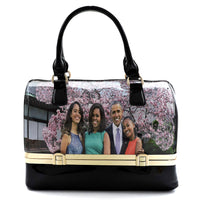 Magazine Cover Collage 2-in-1 Boston Satchel Wallet Set PW0071 MULTI