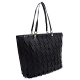 Leaf Layered Shopper LY113 BLACK