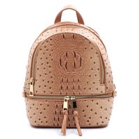 Ostrich Croc 2-in-1 Backpack OS1082W ROSE PINK