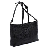 Crocodile Crossbody Bag LHU167 BLACK