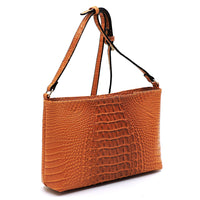 Crocodile Crossbody Bag LHU167 TAN