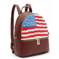 American Flag Backpack [DH265-BROWN]