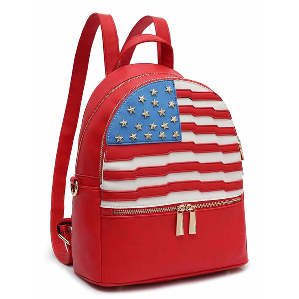 American Flag Backpack [DH265-RED]
