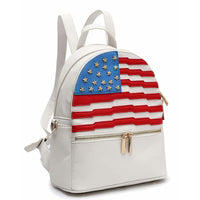 American Flag Backpack [DH265-WHITE]