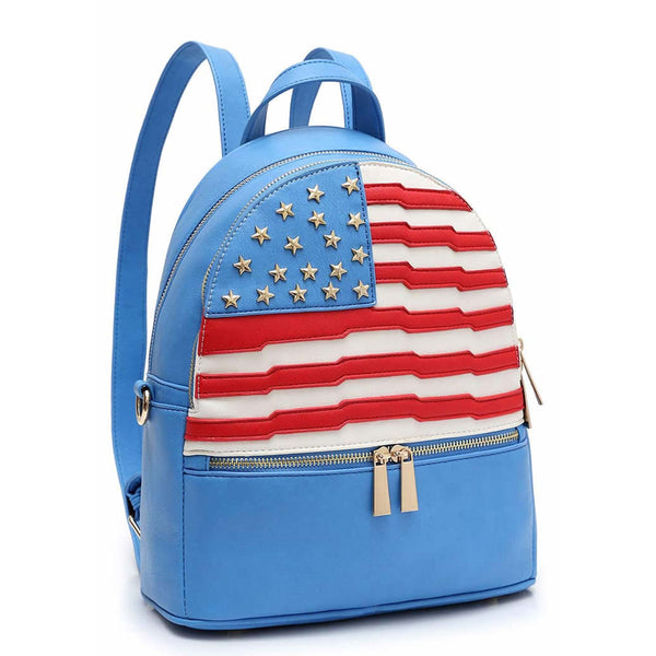 American Flag Backpack [DH265-BLUE]