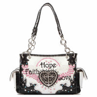 Faith Hope Love Western Cross Shoulder Bag [FHL38469 BLACK]