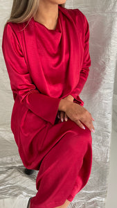 Red Silk Caftan