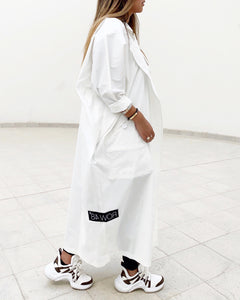 OFF-WHITE OVERSIZED SIDE-LOGO COAT