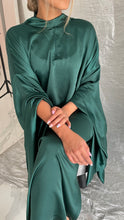 Emerald Green Silk Caftan