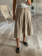 BEIGE LOGO SKIRT/SHORT
