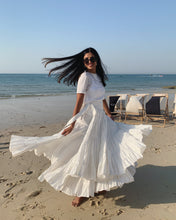 WHITE WAVES SKIRT
