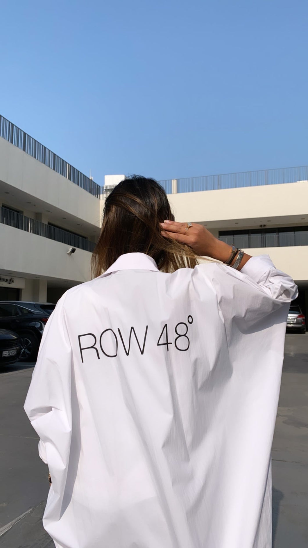 OFF-WHITE OVERSIZED BACK LOGO COAT