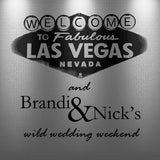 Wonderful Las Vegas welcome bag and gable box labels   adhesive stickers